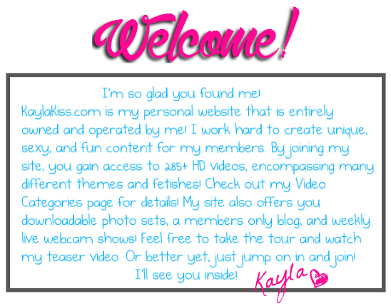 Welcome to Kaylakiss.com